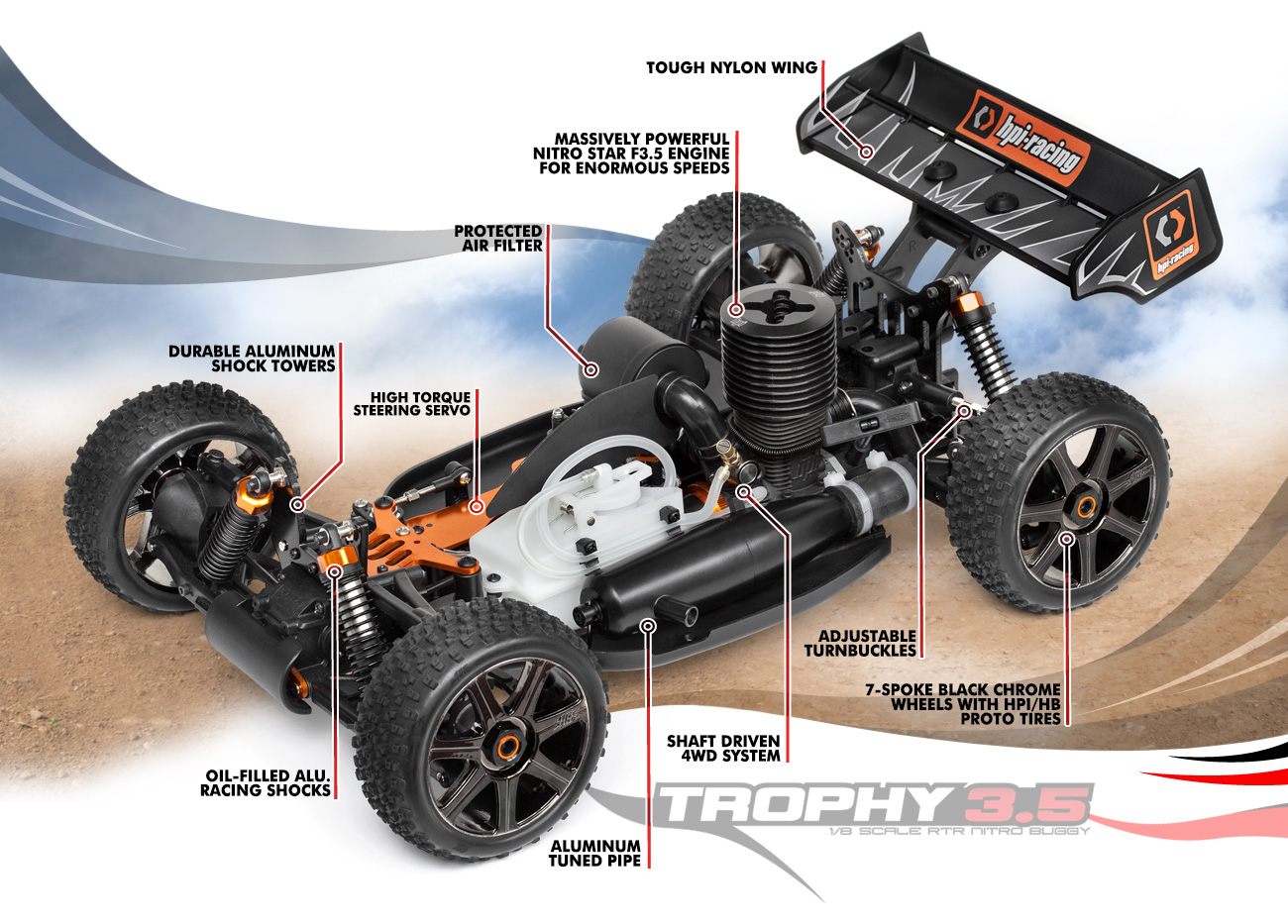 Alloy Steering Assembly for HPI Trophy 3.5