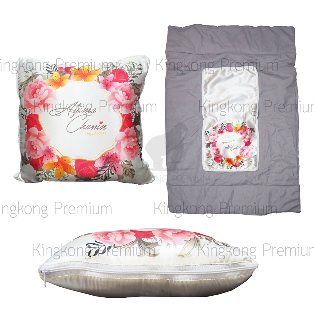 หมอนผ้าห่ม พิมพ์ลายพิเศษ (สำหรับแจกงานแต่ง)