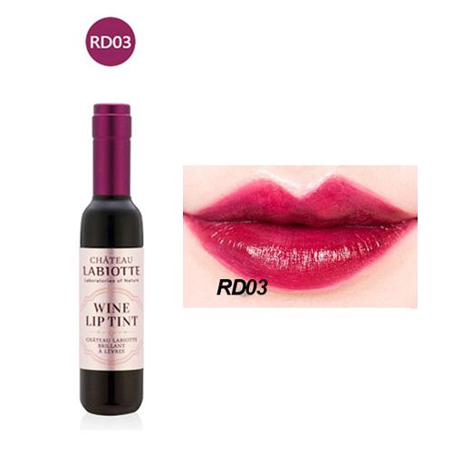 Wine Lip Tint Set ลิปทินท์ขวดไวน์ ดีไซน์หรู สีติดทนนาน RD-03