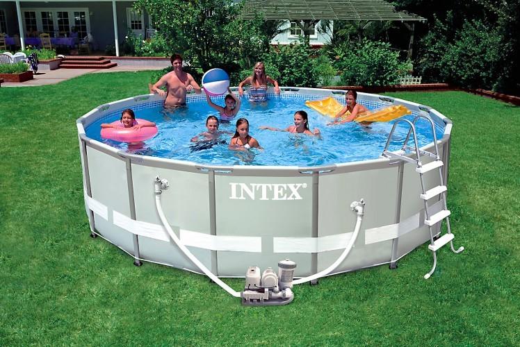 INTEX สระอัลทร้าเฟรม 16 ฟุต(488x122 ซม.) เครื่องกรองระบบน้ำเกลือ-ไส้กรอง
