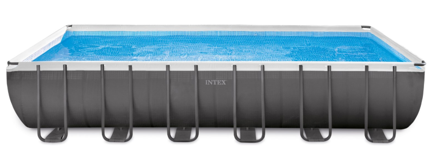 INTEX สระสี่เหลี่ยมอัลทร้าเฟรม 24 ฟุต ระบบน้ำเกลือ-ทราย