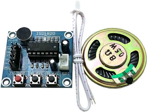 ISD1820 Voice Board Module (On-board Microphone) Sound Recording Module อัดเสียง บันทึกเสียง พร้อมลำโพง