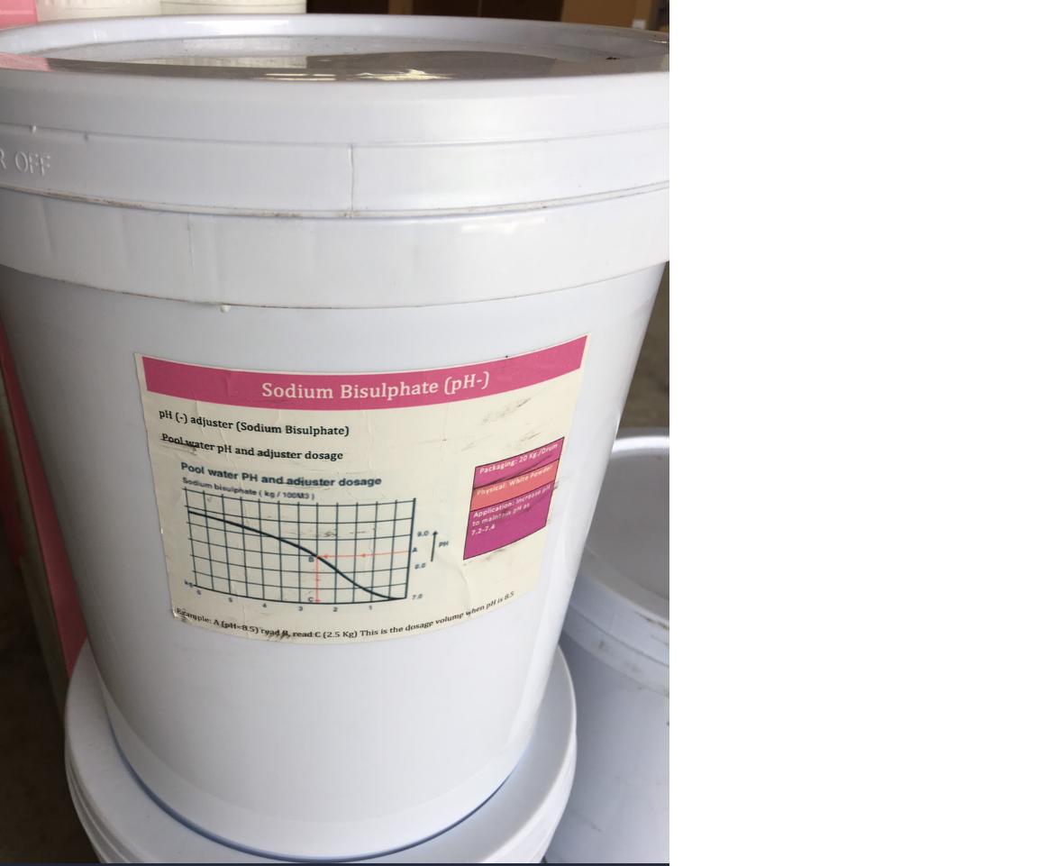 พีเอชลบ (PH -) สำหรับลดค่า PH / 20 kg ลดความเป็นด่างของน้ำ
