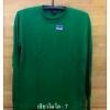 เสื้อคนงานก่อสร้าง แขนยาวจั้มแขน สีเขียวไมโล