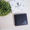 กระเป๋าสตางค์ใบสั้นผู้ชาย Playboy wallet -สีดำ-