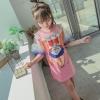 เดรสเด็กโตสีชมพูสกรีนการ์ตูน จะใส่ในวันธรรมดาสบายๆ หรือใส่ไปเที่ยวก็น่ารักมากค่ะ