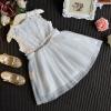 ชุดเดรสกระโปรงผ้าลูกไม้สีขาว ต่อด้วยกระโปรงฟูๆ ชุดนี้ใส่แล้วสวยดูสวยหวานน่ารัก ใส่ไปเที่ยวหรืออกงานก็น่ารักค่ะ