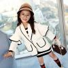 แจ็คเก็ตสีขาว ไซค์สำหรับเด็กโต ใส่คลุมกับชุดไหนก็สวย งานดีสวยมากค่ะ
