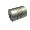 Coupling 6 mm. to 6 mm.