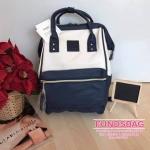 Anello กระเป๋าเป้ สะพายหลัง รุ่น Pu Leather Rucksack mini แท้100% สีขาว-กรม