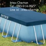 INTEX ผ้าคลุมสระสี่เหลี่ยมปริซึ่มเฟรม 4x2 เมตร