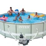 INTEX สระอัลทร้าเฟรม 16 ฟุต(488x122 ซม.) เครื่องกรองระบบทราย