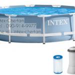 INTEX สระปริซึ่มเฟรมกลม 12 ฟุต(366X76 ซม.) เครื่องกรองระบบไส้กรอง