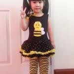ชุดผึ้งเด็กหญิงลาผึ้งสีดำ เหลือง ตัวชุดแยกกับกางเกงน่ารักมากๆ ค่ะ