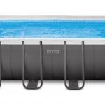 INTEX สระสี่เหลี่ยมอัลทร้าเฟรม 24 ฟุต เครื่องกรองระบบทราย (732x366x132 ซม.)
