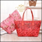 Victoria's Secret Vintage Flower Print Shoulder Tote Bag