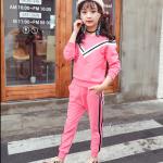 ชุดเซ็ทเด็กโต เสื้อสีชมพู+กางเกงขายาว จะใส่ในวันธรรมดาสบายๆ หรือใส่ไปเที่ยวก็น่ารักมากค่ะ