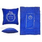 หมอนผ้าห่ม (สีน้ำเงิน สกรีน 1 สี)
