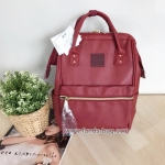 Anello กระเป๋าเป้ สะพายหลัง รุ่น Pu Rucksack Mini แท้100% สีแดงไวร์