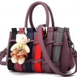 กระเป๋าแฟชั่นนำเข้า สไตล์เกาหลี สีม่วงอ่อน