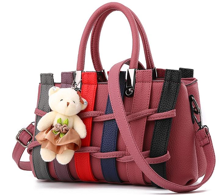 กระเป๋าแฟชั่นนำเข้า สไตล์เกาหลี สีแดง