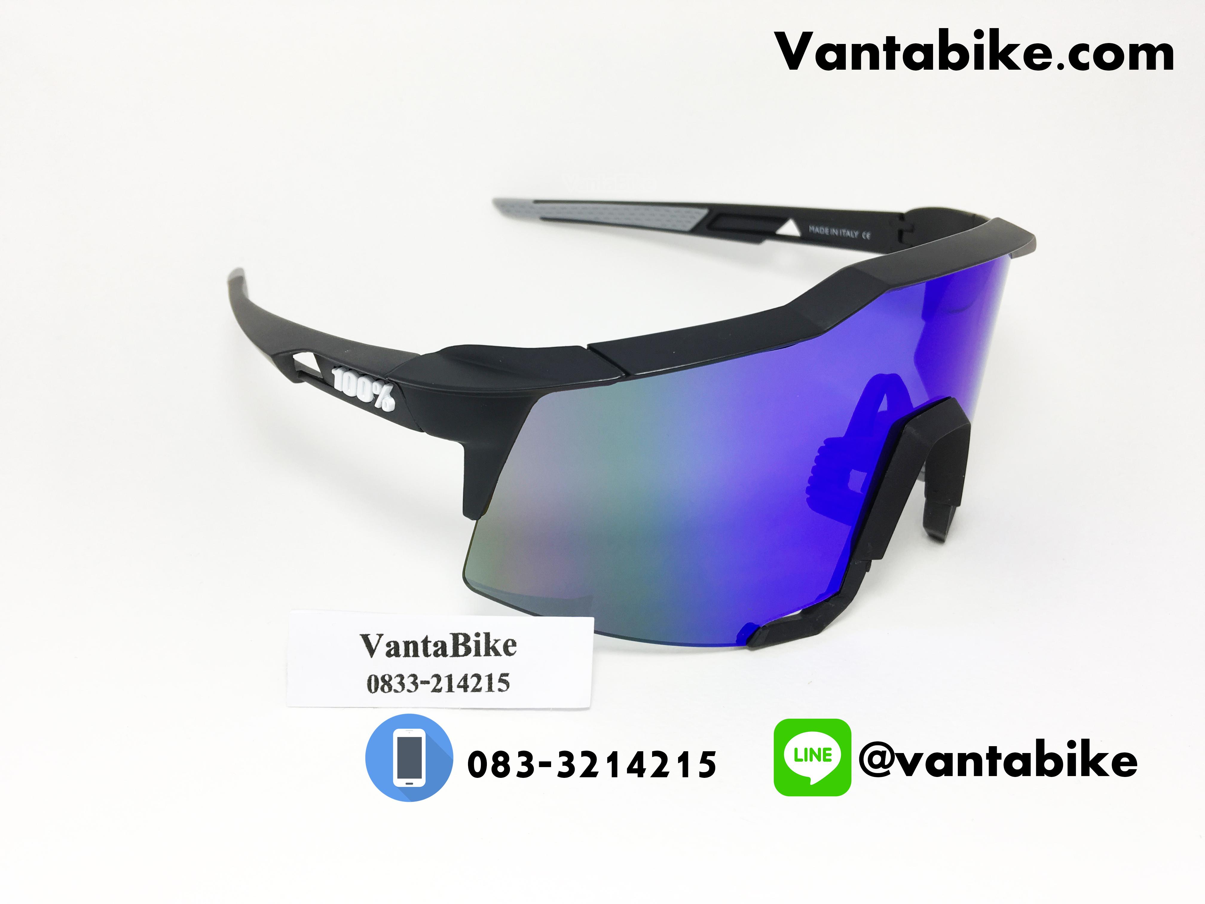 แว่นตาปั่นจักรยาน SPEEDCRAFT 100% [สีดำ-ขาว]