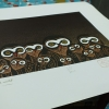 ภาพพิมพ์ผลงานของ อ.ประหยัด พงษ์ดำ ขนาด 16X22 ซม