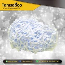 กระดาษฝอย - สีขาว ขนาด 4 mm. : สำหรับรองสินค้า กันกระแทก