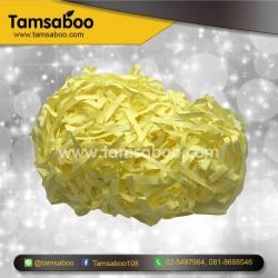 กระดาษฝอย - สีเหลือง ขนาด 4 mm. : สำหรับรองสินค้า กันกระแทก