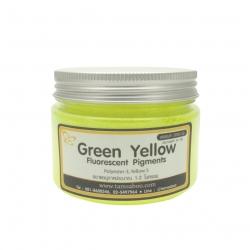 สีผงสะท้อนแสง สีเขียวเหลือง Green Yellow Fluorescent Pigment