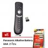 แอร์เมาส์ รีโมทอัจฉริยะ รุ่น T2 Wireless 2.4G Air Mouse Support for Android TV Box and Computer (Black) แถมฟรี ถ่านพานาโซนิค อัลคาไลน์ ขนาด AAA 2 ก้อน